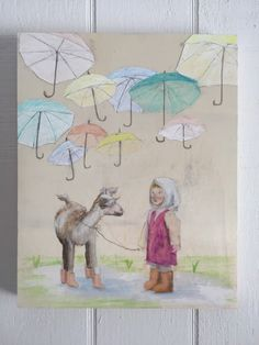 Girl and her goat by muralsbyshauna on Etsy https://www.etsy.com/listing/268581580/girl-and-her-goat