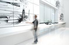 Audi Qube 3 Barcelona by Schmidhuber + Partner Corporate Interior Design, Corporate Interiors, Retail Design, Exhibition Stall, Exhibition Display, Food Design, Kreative Jobs, Audi, Car Museum