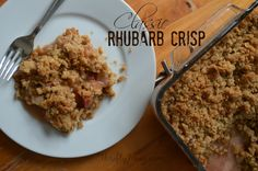 This Classic Rhubarb Crisp Recipe is just like Grandma used to make! Just 8 ingredients is all it takes to make this delicious dessert.