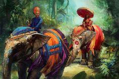 garabating:    Elephants by ~thegryph