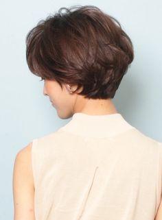 「ナチュラルエフォートレス」ショートボブ(髪型ショートヘア)