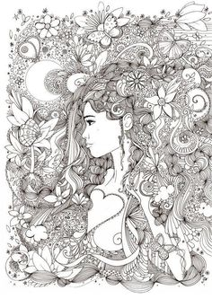 the adult coloring boom has spawned complex and detailed abstract coloring pages for adults. Adult coloring has such therapeutic value. Abstract Coloring Pages, Adult Coloring Book Pages, Free Coloring Pages, Printable Coloring Pages, Coloring Books, Colorful Drawings, Colorful Pictures, Doodle Coloring, Line Art