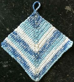 PHOTO ONLY - NO PATTERN #8 On The Edge Crochet Dishcloth