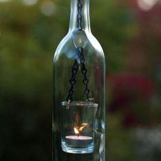 wine bottle glass light