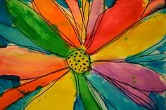 Georgia O'Keefe inspired art lesson for kids; found at Pink And Green Mama