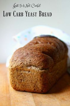 Low carb yeast bread is perfect for your keto diet. From Lowcarb-ology.com