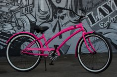 SKULLXBONES Women's Beach Cruiser Bike - Gloss Pink / Black