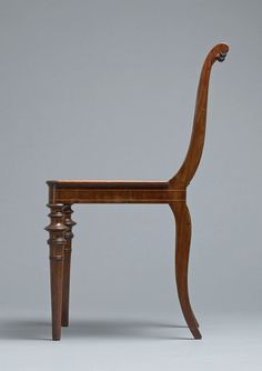 """design-is-fine: """" Karl Friedrich Schinkel, Salon chair, Berlin. Presented at Gallery Ulrich Fiedler, Berlin - """" If you compare you will see that design and product. Wooden Furniture, Antique Furniture, Cool Furniture, Furniture Design, La Malmaison, Salon Chairs, Antique Chairs, Classic Furniture, Chair Design"""
