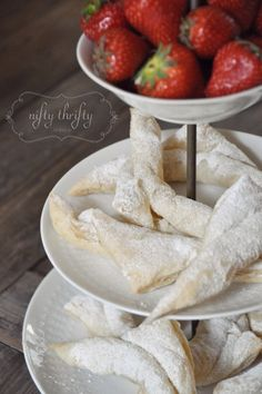 {puff pastry with strawberries & cream}