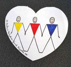 Hearts created by children and youth from across Canada honouring and remembering the Survivors of the 'Indian Residential Schools'.