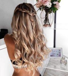 hair, hair color, hairstyle shared by haileycrowder French Braid Hairstyles, Kids Braided Hairstyles, Formal Hairstyles, Pretty Hairstyles, Hello Hair, Long Hair Wedding Styles, Short Hair Styles, Gorgeous Hair, Beautiful