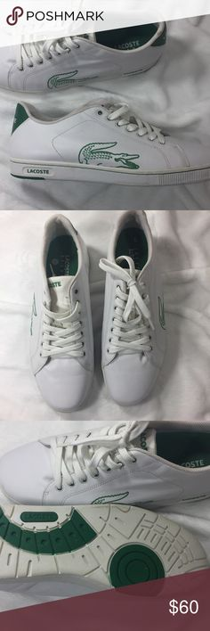 Men's Lacoste Sneakers 👟 Men's Lacoste Sneakers White and Green size 13 never worn 👟👟 Lacoste Shoes Athletic Shoes
