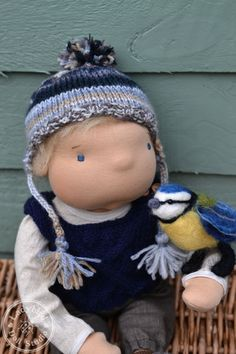 Jonah and his feathered friend - ladybird doll studio