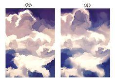 이건 팁이라고 할 것 까진 아닌데 여러분 사이툴로 구름 그리실 때 아크릴+수채화붓 두개 쓰세요. 진짜 몽실몽실하고 느낌 잘 나게 그려져요. 예시 그림이 이 따위라 죄송합니다... 암튼 써보시면 아실듯.
