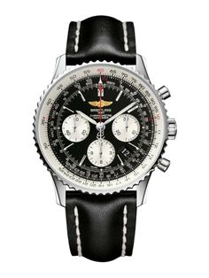 Breitling Navitimer 01 Automatic men's black strap watch   Watches   Fraser Hart Jewellers