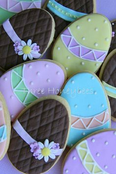 Easter Egg Cookies by Three Honeybees, via Flickr