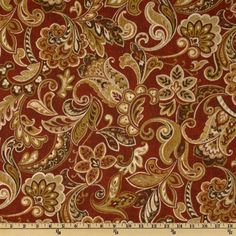 This indoor/outdoor fabric is stain and water resistant, very family friendly and perfect for outdoor settings and indoors in sunny rooms. It is fade resistant up to 500 hours of direct sun exposure. Create decorative accent pillows, cushions, chair pads, placemats, tote bags, slipcovers and upholstery. Colors include gold, rust, mocha, cream and garnet.