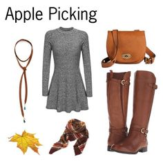 Apple Picking by bewitchedmagic on Polyvore featuring polyvore, fashion, style, Naturalizer, Vanessa Mooney, Mossimo Supply Co. and clothing