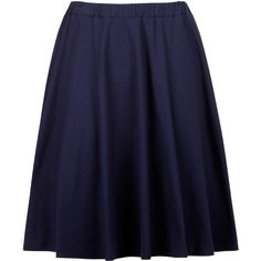 Tyler Jersey Skirt in Navy (2.365 RUB) ❤ liked on Polyvore featuring skirts, bottoms, jersey skirt, blue cotton skirt, navy cotton skirt, cotton knee length skirt and navy jersey
