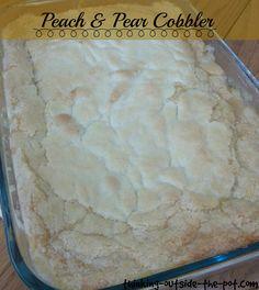 The Best Peach & Pear Cobbler