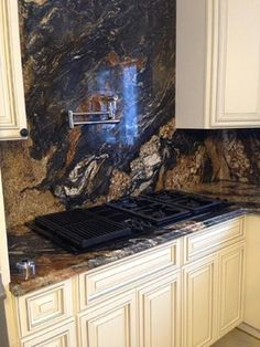 Magma Granite Countertop and Backsplash - Tinton Falls, New Jersey