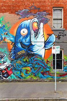 Putos, Clifton Hill.   Great mural!