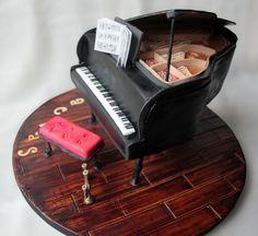 El Laboratorio de las Tartas: Tartas Decoradas Madrid: Tutorial Tarta Piano