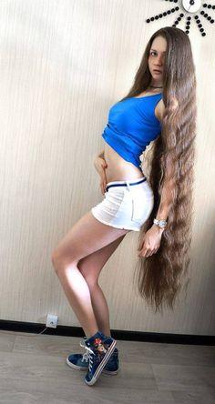 long hair. straight bangs.