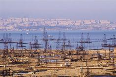 Baku Azerbaijan  Oil Wells