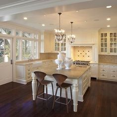 U Shaped Kitchen With Island Design, Pictures, Remodel, Decor and Ideas - page 18