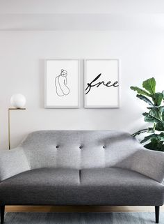 Opposite Wall: Art Posters and Frames- Minimalist Wall Art Prints Home Decor Wall Art, Art Decor, Living Room Decor, Black And White Posters, Black And White Wall Art, Black Decor, White Decor, Minimalist Interior, Minimalist Home