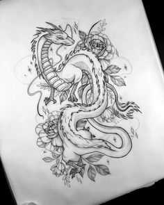So excited about tattooing Haku # spiritedawaytattoo - So excited . - So excited about tattooing Haku # spiritedawaytattoo – So excited about tattooing Haku # spirited - Tattoo Sketches, Tattoo Drawings, Body Art Tattoos, Hip Tattoos, Art Drawings, Tattoo Sketch Designs, Cool Dragon Drawings, Flower Tattoos, Tatoos