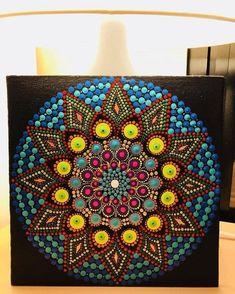 Handmade Home Decor Dot Art Painting, Mandala Painting, Mandala Canvas, Mandala Art, Point Paint, Peace Crafts, Mandala Rocks, Mandala Pattern, Mandala Coloring