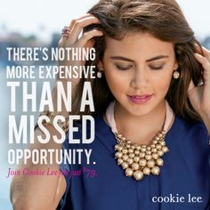 Start making your New Year's dreams come true! Join Cookie Lee for just $79 and make a 50-60% profit from each piece of jewelry sold! #cookielee #jewelry #sahm