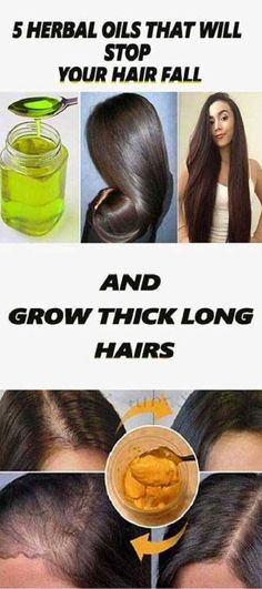 5 HERBAL OILS THAT WILL STOP YOUR HAIR FALL AND GROW THICK LONG HAIRS