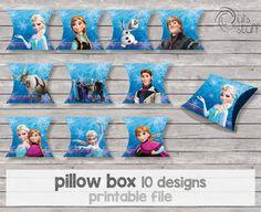 Printable Frozen pillow box