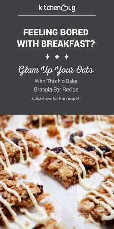 Bored with breakfast? Put your oatmeal into a granola bar for a twist on the traditional oatmeal recipe.