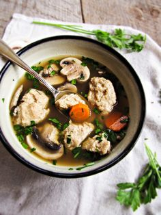 Chicken Dumpling Soup | {Katie at the Kitchen Door}