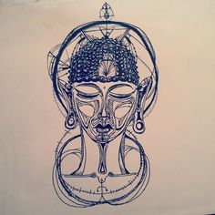 """Buddha"" Pen Illustration"