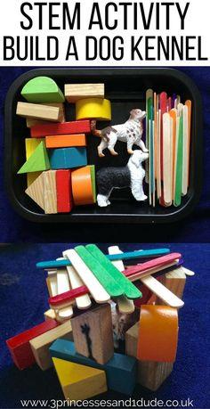 Activity Time. STEM, Build A Dog Kennel