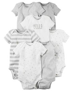 Baby Girl 7-Pack Short-Sleeve Original Bodysuits from Carters.com. Shop clothing & accessories from a trusted name in kids, toddlers, and baby clothes.