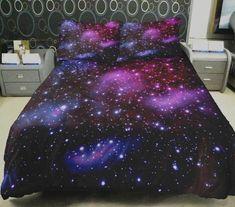 Comforter Cover, Duvet Bedding, Duvet Cover Sets, Pillow Covers, Dark Bedding, Purple Comforter, Cotton Bedding, Comforter Sets, Galaxy Bedroom