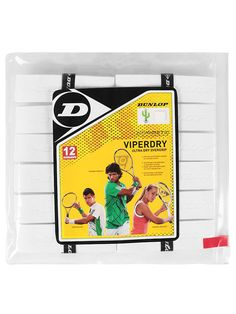 5bd2d92701e Dunlop Viperdry Ultra Dry Overgrip White 12 Pack Tennis