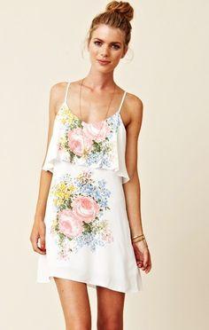 floral, flowy dress :)