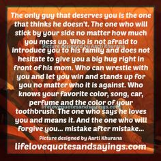 picture men afraid to love | The Only Man Who Deserves You.. | Love Quotes And Sayings
