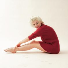 "1,252 Likes, 14 Comments - Cherie Balch (@shrimptoncouture) on Instagram: ""#marilynmonroe 'Red Sweater' photoed by #miltongreene #1955 ❤️❤️"""
