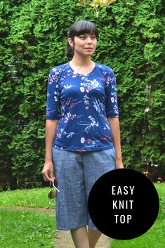 FREE PATTERN ALERT: Short Sleeves Knit Top for Women - On the Cutting Floor: Printable pdf sewing patterns and tutorials for women | On the Cutting Floor: Printable pdf sewing patterns and tutorials for women