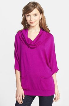 Chaus Cowl Neck Two-Pocket Tunic Sweater available at #Nordstrom