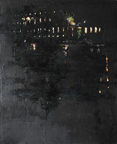 """Quadro """"Pliniana notte"""" #hotelsereno #villapliniana #lakeofcomo #art"""