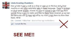 So patriotic, she can't even sling a sentence together... #EDL